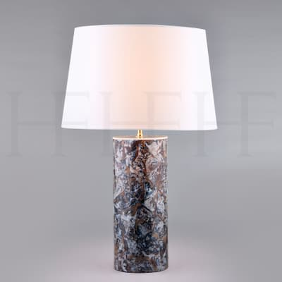 Tl156 Grey Agate Table Lamp S