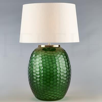 Tl164 L Mala Table Lamp Large Emerald Honeycomb S