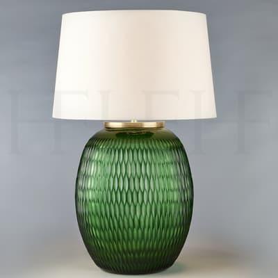Tl166 L Mala Table Lamp Large Emerald Diamond S