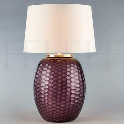 Tl167 L Mala Table Lamp Large Amethyst Honeycomb S