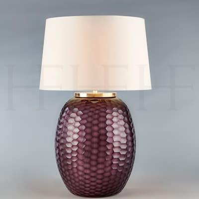 Tl167 M Mala Table Lamp Medium Amethyst Honeycomb S