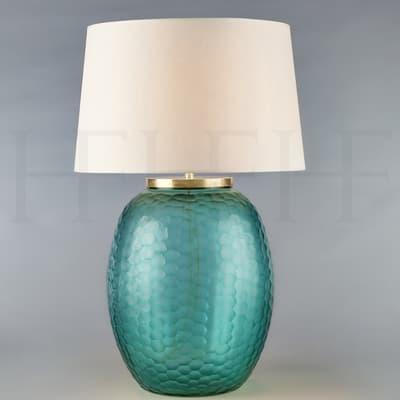 Tl169 L Mala Table Lamp Large Aquamarine Honeycomb S