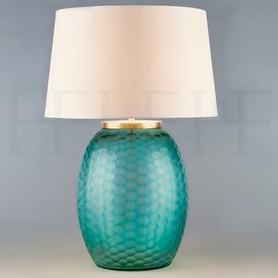 Tl169 M Mala Table Lamp Medium Aquamarine Honeycomb S