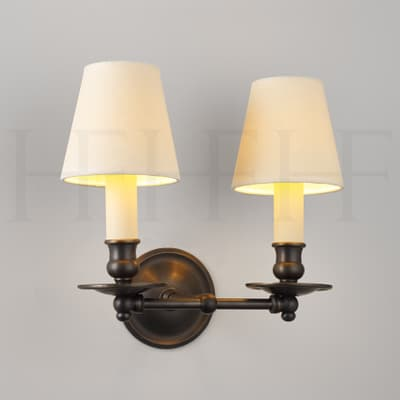 WL25 Hector Twin Straight Arm Wall Light S