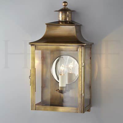 Wl253 Square Lantern With Chimney And Mirror Hr S