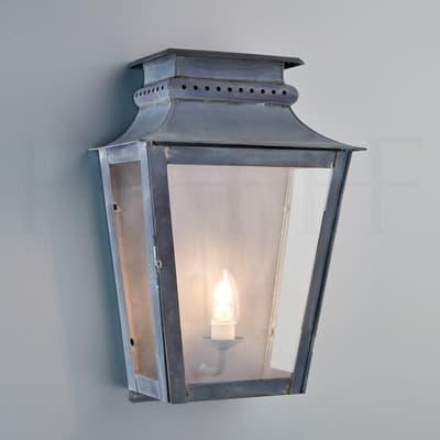 Wl258 M Zeus Wall Lantern Medium Zinc New S