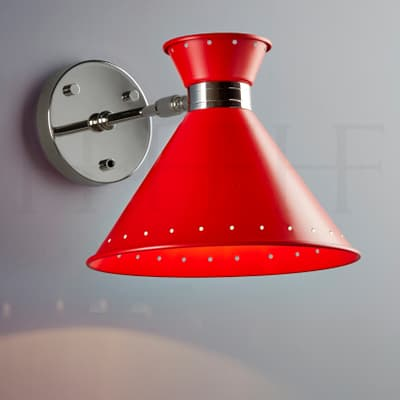 Wl259 Tom Wall Light Rosso With Switch S