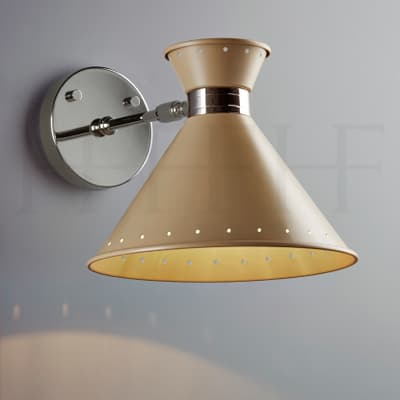 Wl259 Tom Wall Light Taupe With Spots S