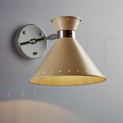 WL259 SW Tom Wall Light Taupe with switch S