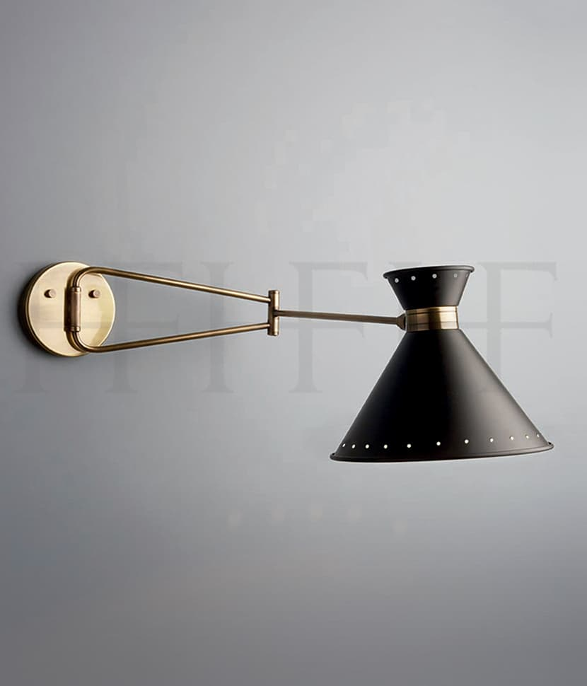 WL292 Tom Swing Arm Wall Light with spots S