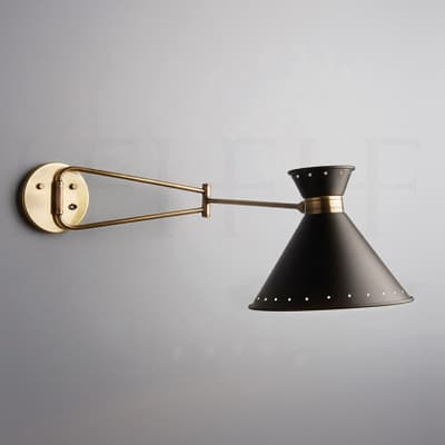 Wl299 Tom Swing Arm Wall Light With Spots S