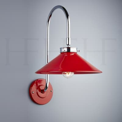 Wl300 Lucia Wall Light Rosso And Chrome S