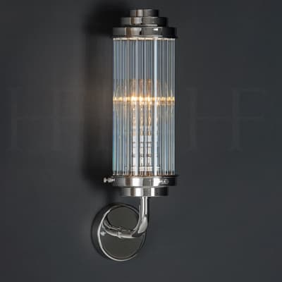 Wl312 Reed Wall Light Clear Glass S