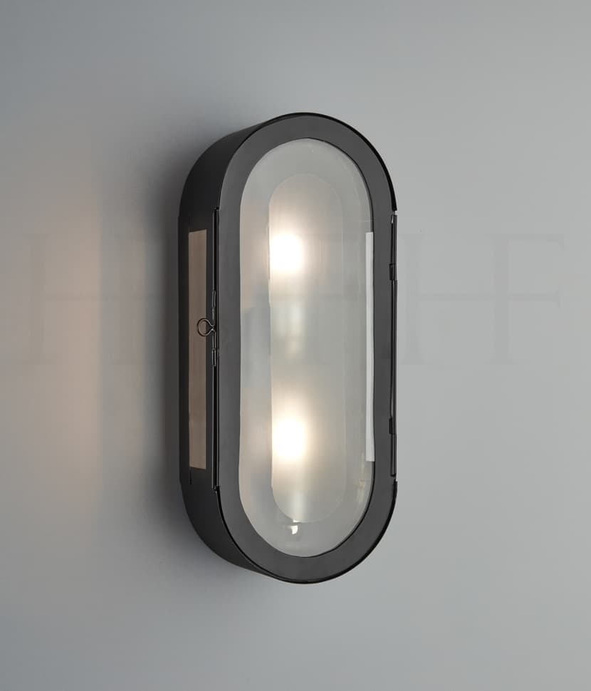 Wl333 Hermes Wall Lantern BL S