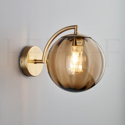 Wl401 Paola Wall Light Marrone Ab S
