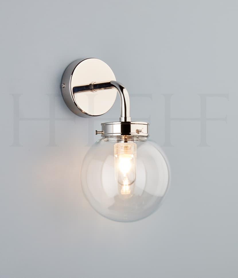 Wl424 Mini Globe Wall Light Clear Hf Gallery Np S