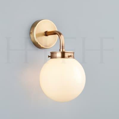 Wl425 Mini Globe Wall Light Opal Hf Gallery Ab S