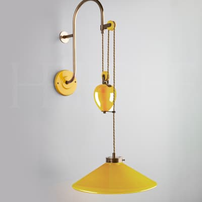 WL449 Lucia Rise and Fall Wall Light Giallo S