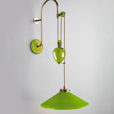 WL449 Lucia Rise and Fall Wall Light Verde Selenio S