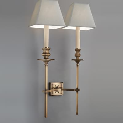 Wl87 Starback Wall Light Double With Straight Arms S