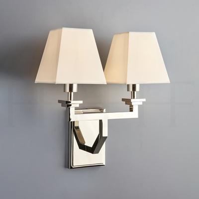 Adam Wall Light, Double, Nickel Polished