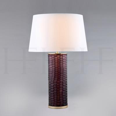 Amethyst Honeycomb Glass Table Lamp