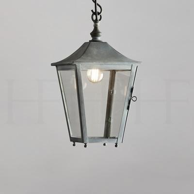 Athena Hanging Lantern Zinc