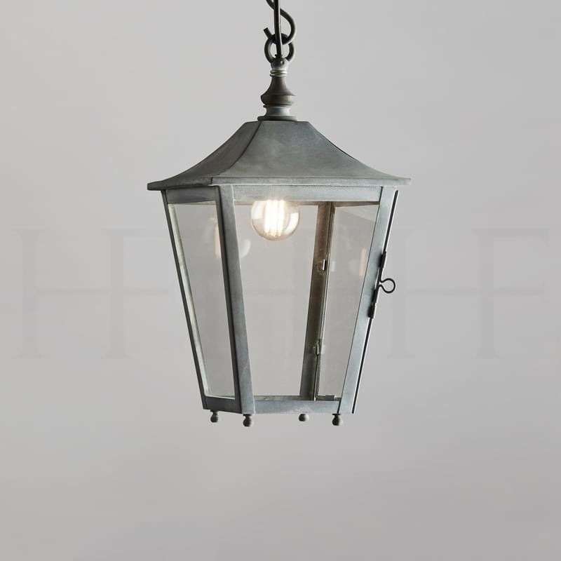 La412 S Athena Hanging Lantern Small Zinc L