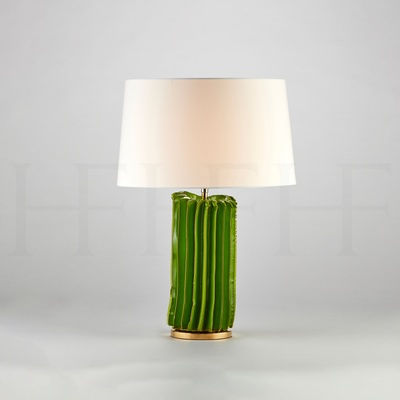 Cactus Table Lamp, Small, Verde