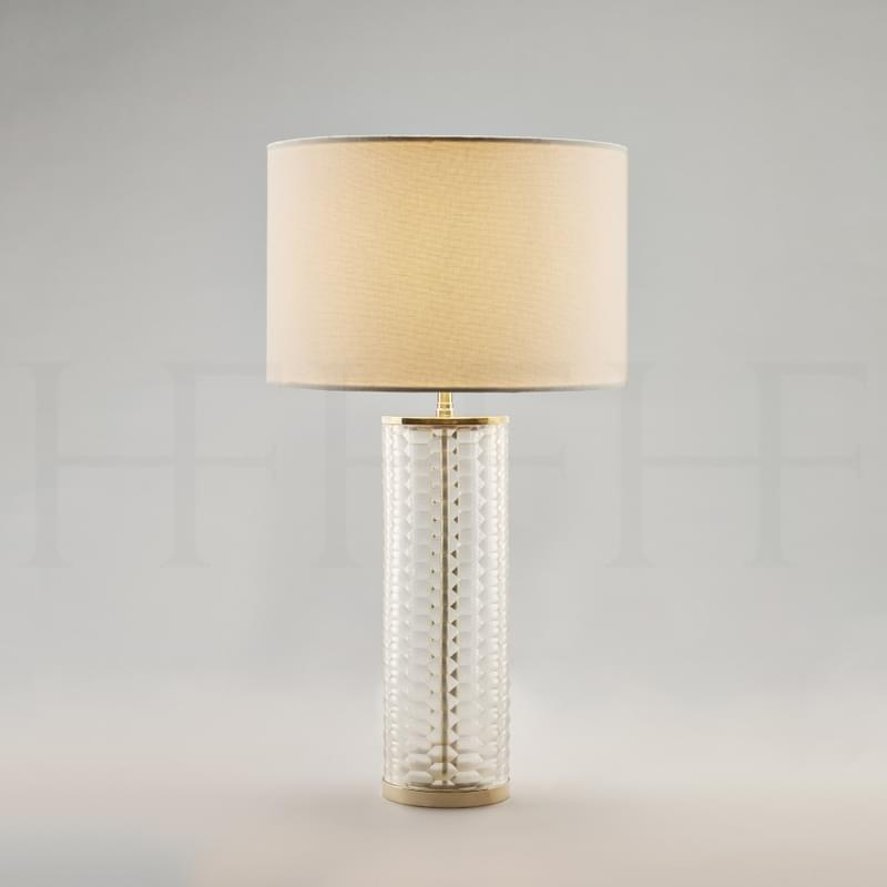 Tl60 Clear Honeycomb Glass Table Lamp L