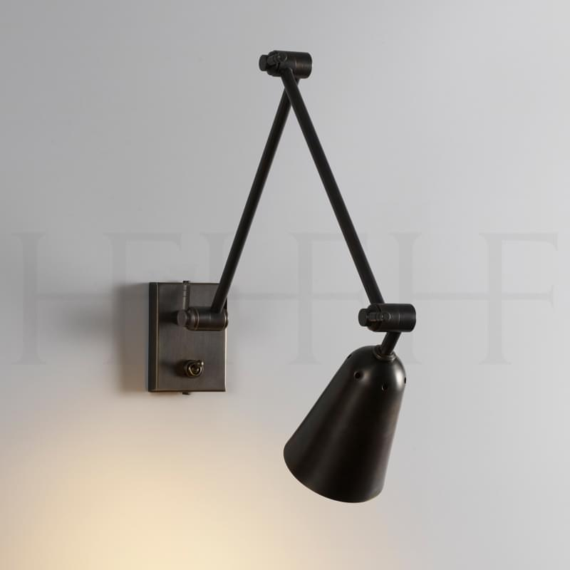 Wl461 Dido Double Arm Wall Light Bronze L