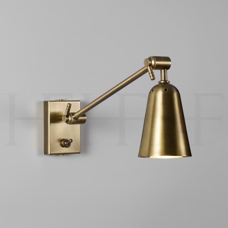 Wl462 Dido Single Arm Wall Light Antique Brass L