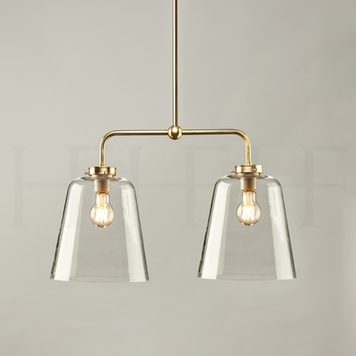 Double Bell Shade Pendant, Large