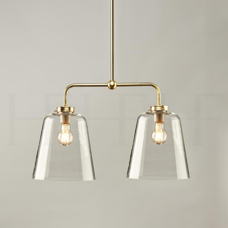 Pl432 Double Bell Shade On A Rod Large L