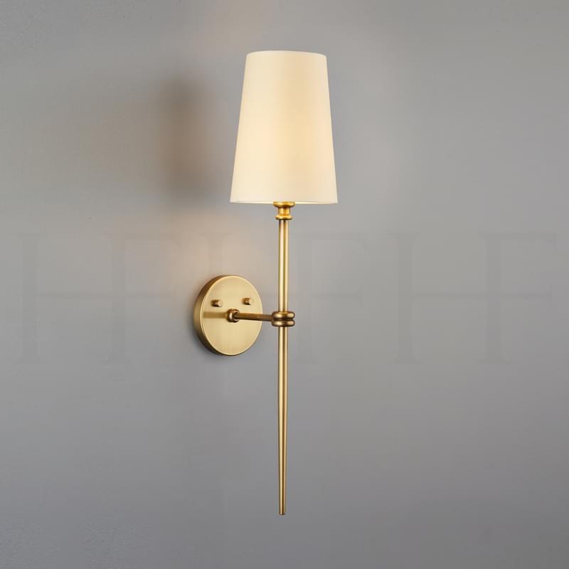 Wl29 Elsa Wall Light Antique Brass L
