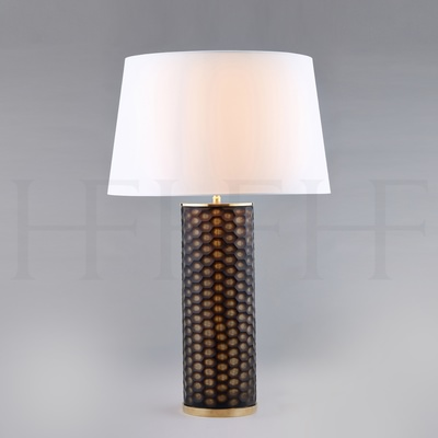 Fire Agate Honeycomb Glass Table Lamp