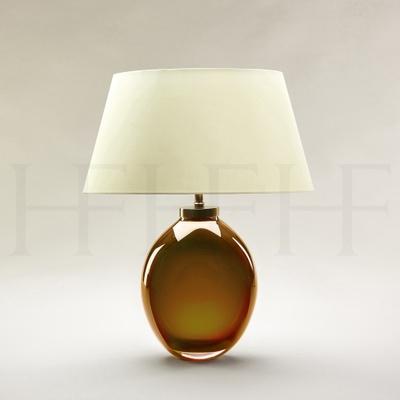 Giacomo Amber Glass Table Lamp