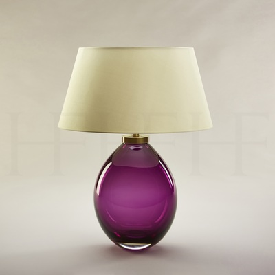 Giacomo Amethyst Glass Table Lamp