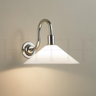 Glass Coolie Wall Light, Swan Neck