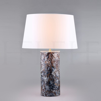 Grey Agate Table Lamp