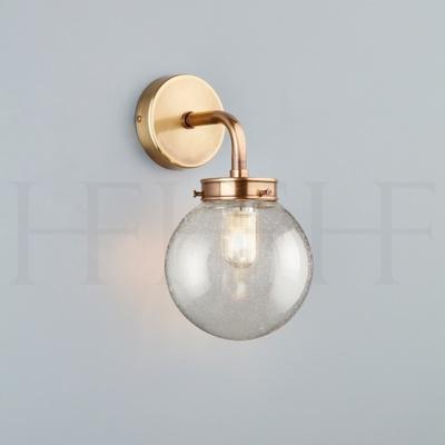 Hector Mini Globe Wall Light, Seeded Glass