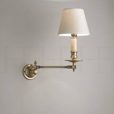 Hector Swing Arm Wall Light, Round Backplate