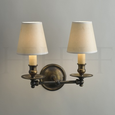 Hector Twin Straight Arm Wall Light