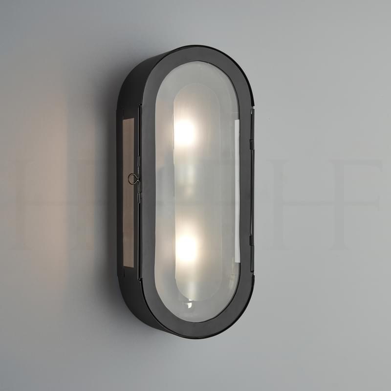 Wl333 Hermes Wall Lantern BL L