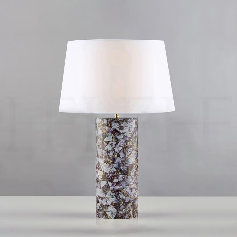 Tl161 Lilac Cowrie Table Lamp L