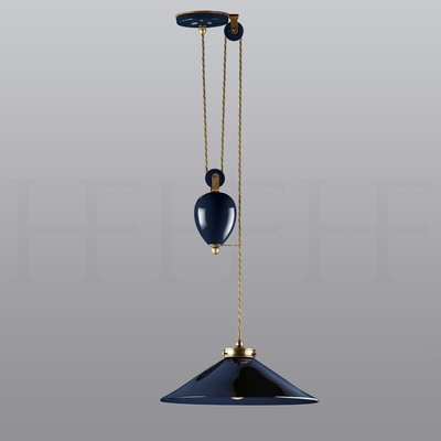 Lucia Rise and Fall Pendant, Naval