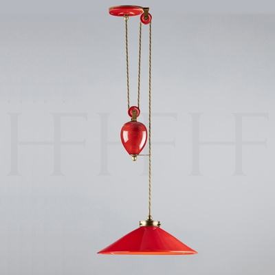Lucia Rise and Fall Pendant Rosso