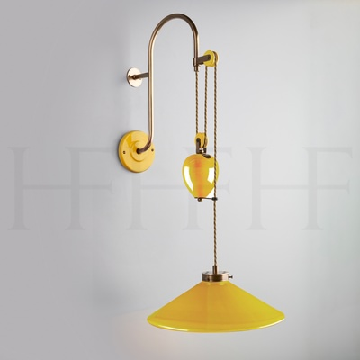 Lucia Rise and Fall Wall Light, Giallo
