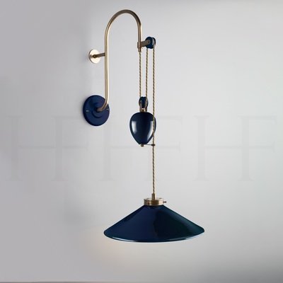 Lucia Rise and Fall Wall Light, Naval
