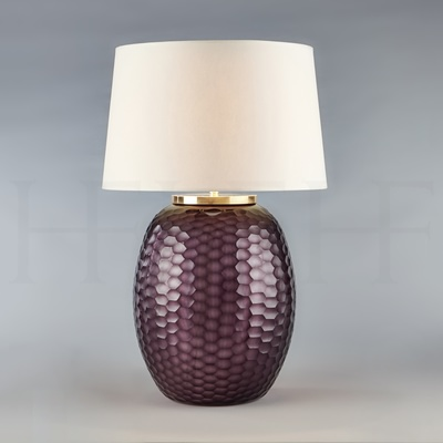 Mala Table Lamp, Large, Amethyst, Honeycomb